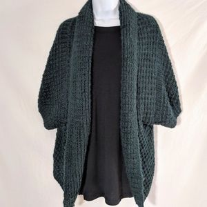 Zara Knit Chunky Open Front Sweater